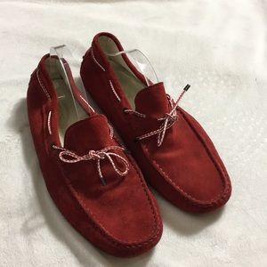 Tods • Red Suede Driving Loafers